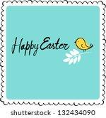 easter card. | Shutterstock .eps vector #132434090