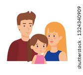 parents couple with daughter...   Shutterstock .eps vector #1324340909