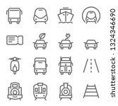 transportation vector line icon ... | Shutterstock .eps vector #1324346690