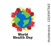 world health day illustration | Shutterstock .eps vector #1324347563