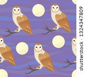 seamless pattern with moon and...   Shutterstock .eps vector #1324347809