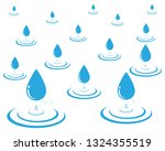 water drop logo template vector ... | Shutterstock .eps vector #1324355519