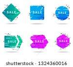 trendy geometric banners set... | Shutterstock .eps vector #1324360016