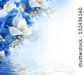Flowers In A Bouquet  Blue...