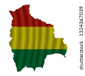 bolivia map with rippled flag...   Shutterstock .eps vector #1324367039