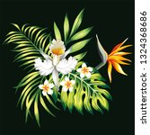 exotic trendy composition from... | Shutterstock .eps vector #1324368686
