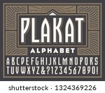 Plakat is a vintage-style original alphabet. This lettering is reminiscent of European poster styled fonts of the 1920s and 1930s