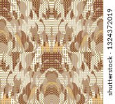 quirky tapestry pattern.... | Shutterstock .eps vector #1324372019