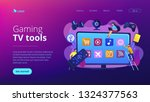 tiny people using smart...   Shutterstock .eps vector #1324377563