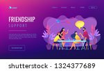 group of friends sitting at the ... | Shutterstock .eps vector #1324377689
