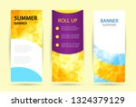 set abstract geometric roll up. ... | Shutterstock .eps vector #1324379129