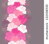 seamless pattern with flowers... | Shutterstock .eps vector #132438530