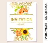 romantic wedding invitation... | Shutterstock .eps vector #1324386356