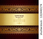 vintage background  antique ... | Shutterstock .eps vector #132440174