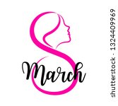 eight march and female face... | Shutterstock .eps vector #1324409969