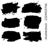 set of black ink hand drawn... | Shutterstock .eps vector #1324425746
