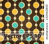 vector seamless brown retro...   Shutterstock .eps vector #132442850