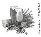 one graphic glass of beer...   Shutterstock .eps vector #1324432160