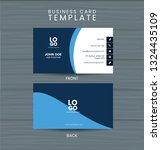 modern blue business card... | Shutterstock .eps vector #1324435109