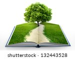 Book Of Nature Isolated On White