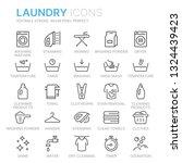 laundry vector icons set   Shutterstock .eps vector #1324439423