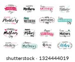 happy mothers day greeting logo ...   Shutterstock .eps vector #1324444019