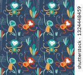 seamless childish pattern with... | Shutterstock .eps vector #1324448459