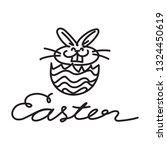 doodle rabbit  vector   Shutterstock .eps vector #1324450619