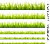 fresh and green spring grass... | Shutterstock .eps vector #1324453976