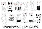 vector collection of doodle... | Shutterstock .eps vector #1324461593