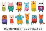 vector collection of cartoon...   Shutterstock .eps vector #1324461596