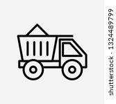 truck concept line icon. simple ...