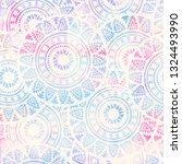 abstract boho watercolor hand... | Shutterstock . vector #1324493990