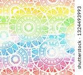 abstract boho watercolor... | Shutterstock . vector #1324493993