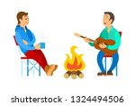 man holding cup  male singing... | Shutterstock .eps vector #1324494506