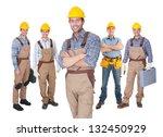 portrait of happy construction... | Shutterstock . vector #132450929