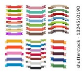 set of coloured ribbon and... | Shutterstock .eps vector #1324510190