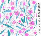 vector seamless pattern of cute ... | Shutterstock .eps vector #1324513736