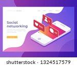 social media theme. ... | Shutterstock .eps vector #1324517579