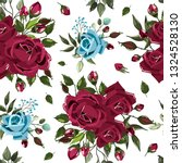 seamless floral pattern with...   Shutterstock .eps vector #1324528130