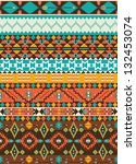 seamless colorful aztec pattern | Shutterstock .eps vector #132453074