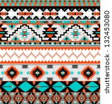 seamless colorful aztec pattern | Shutterstock .eps vector #132453080