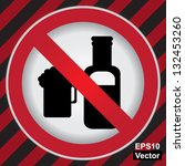 vector   circle prohibited sign ... | Shutterstock .eps vector #132453260