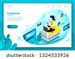 vector concept illustration   ... | Shutterstock .eps vector #1324533926