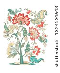 floral decorative elements in... | Shutterstock .eps vector #1324534643