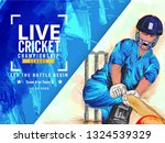 live cricket championship... | Shutterstock .eps vector #1324539329
