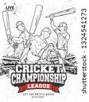 creative cricket championship... | Shutterstock .eps vector #1324541273