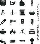 solid black vector icon set  ... | Shutterstock .eps vector #1324557743