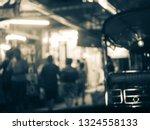 Blur Photo Of Night Street...