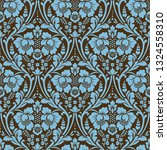 vector seamless damask pattern. ... | Shutterstock .eps vector #1324558310